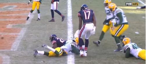 Bears vs Packers, 2016 [Image via SANFRANFANAD/Youtube screencap]