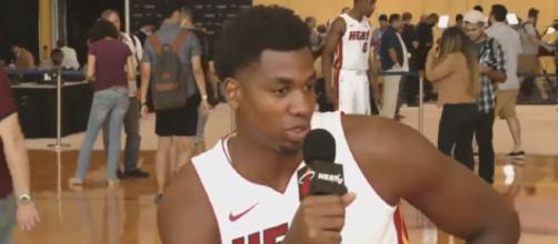 Hassan Whiteside could hit the trading block this season – [image credit: Ximo Prieto-Heat Media/Youtube]