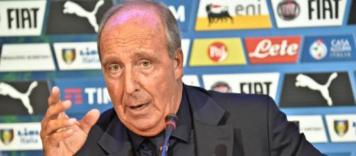 Il CT Gian Piero Ventura in conferenza stampa.