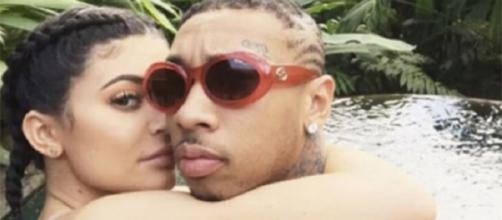 Kylie Jenner e Tyga, durante seu namoro