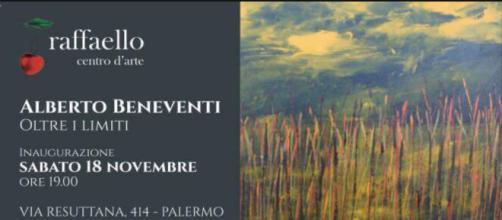 Locandina della mostra di Alberto Beneventi