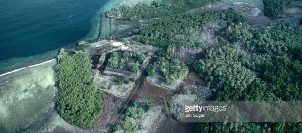 Aerial View Of Nan Madol Stock Photo | Getty Images - gettyimages.com