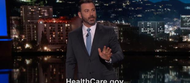 """Kimmel says he """"supports Trumpcare."""" image credits: Jimmy Kimmel Live/YouTube Screencap"""