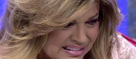 Terelu Campos llorando en Sálvame.