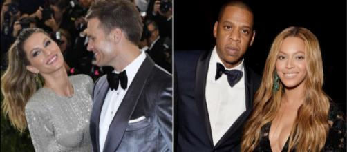 Gisele Bündchen e Tom Brady | Beyoncé e Jay-Z.