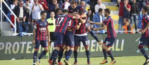 La squadra del Crotone, formazione di Serie A