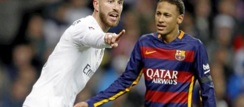 Neymar and Sergio Ramos a yellow away from missing Clasico - tribuna.com