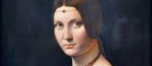 """""""Portrait of a Woman"""" that the Louvre Abu Dhabi says was painted by Da Vinci en.wikipedia.org"""