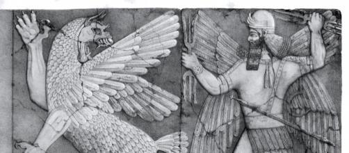 Raffigurazione del Dio del Caos e il Dio Enki