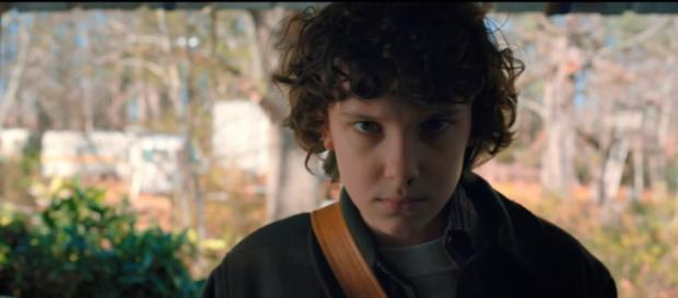 Eleven returns in a scene from 'Stranger Things' Season 2. [Image Credit:Netflix/YouTube]