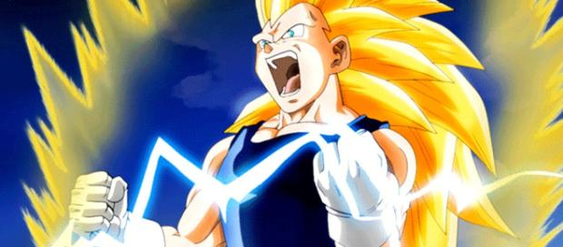 Super Saiyajin 3 Vegeta a máxima potencia