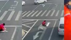 Irritated commuter repaints road in his favor, gets caught and fined