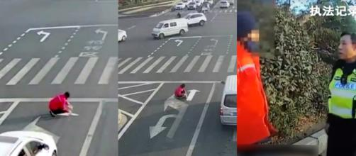 A Chinese commuter was sick of traffic delays, so painted his own road markings to suit. Image Credit: Own work