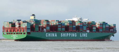 Container ship CSCL Pacific Ocean (Image credit – kees tom, Wikimedia Commons)
