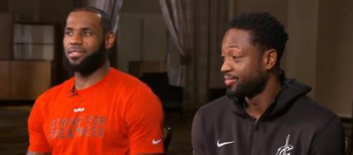 LeBron James And Dwyane Wade with the Cleveland Cavaliers. - [The Jump / YouTube screencap]