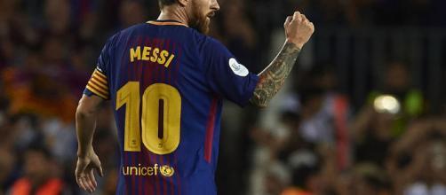 Messi célébrant un but lors d'une rencontre