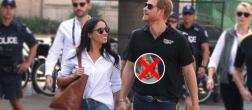 Prince Harry and Meghan Markle might not be able to show affection in public. Image Credit: Own work