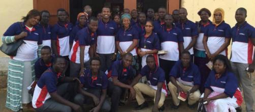 Voluntários do programa social Evangelização incentivam doação de sangue na República do Chade