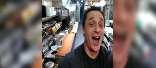 A South Carolina man visited a Waffle House late a night and ended up cooking his own food [Image credit: CBS Philly/YouTube]