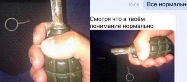 """Após remover pino de granada, Alexander Chechik manteve conversa com amigo que lhe disse para não fazer nada """"estúpido"""" (Crédito: East2West News)"""