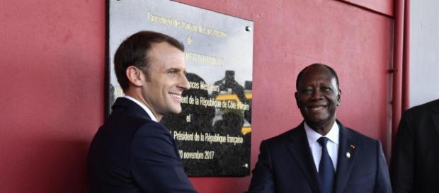 Président Emmanuel Macron et Alassane Ouattara de Côte d'Ivoire (Google)