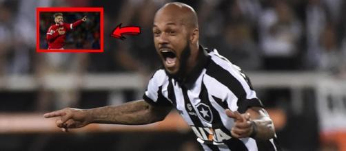 Bruno Silva - Jogador do Botafogo. (Foto reprodução).