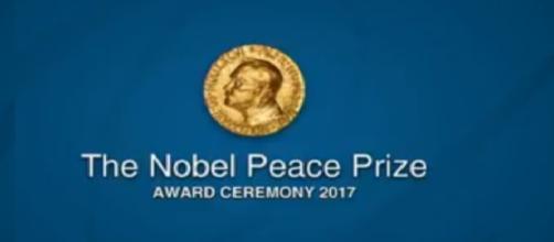 Nobel Peace Prize Award Ceremony 2017. - [Nobel Prizes / YouTube screencap]