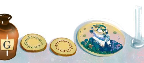 Robert Koch ganhou nesse domingo Doodle de homenagem ao seu prêmio Nobel. (Foto: Divulgação/Google).