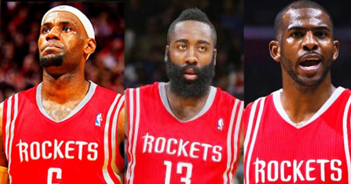 951e122bd02 Execs believe Rockets are  legitimate threat  to sign LeBron in 2018