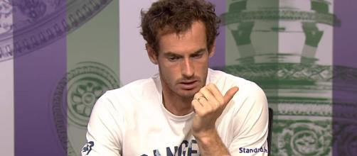 Andy Murray during a press conference at 2017. - [Wimbledon / YouTube screencap]