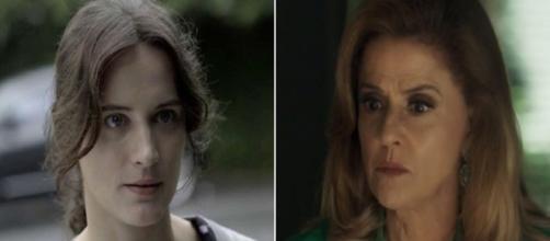 Clara cede a chantagem de Sophia. (Foto: divulgação TV Globo)