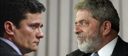Juiz Sérgio Moro e ex-presidente Lula