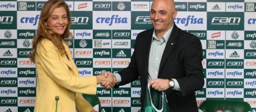 Leila Pereira e Maurício Galiotte. (Foto Reprodução).
