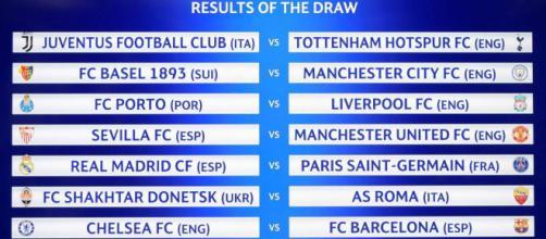 Sorteo de la fase de octavos de la Champions League