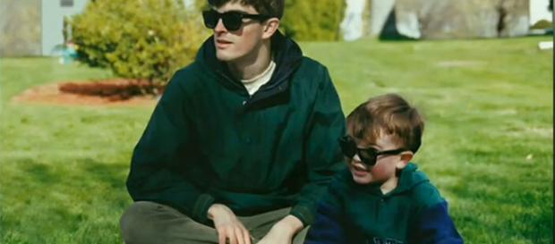 Conor Nickerson's amazing Photoshop skills has let him travel back in time to hang out with his younger self. [Image source: Pics Tube/YouTube]
