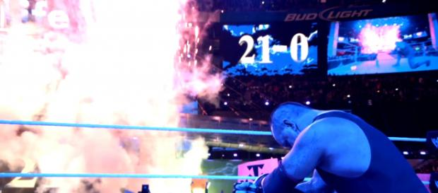 Undertaker moments after his first Wrestlemania loss. - Image credit - WWE/YouTube Channel
