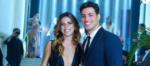 Ator Cauã Reymond e sua namorada Mariana Goldfarb