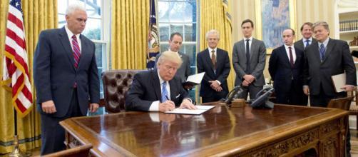 Donald Trump may be signing the News Tax Reform Bill soon (Image via Public Domain)