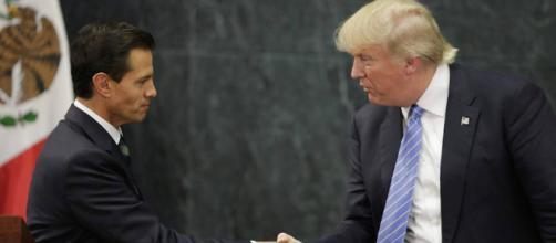 El presidente de México Enrique Peña Nieto y el presidente de Estados Unidos Donald Trump