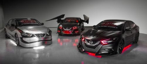Em 2017, o Nissan Altima ganhou versões em homenagem à Capitã Phasma, à nave TIE Fighter e a Kylo Ren