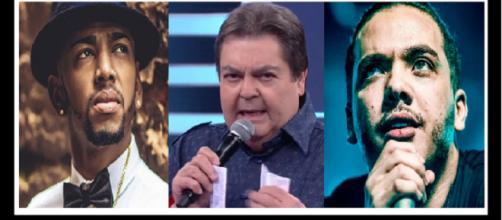 Fausto Silva detona os cantores famosos. (Foto Reprodução).