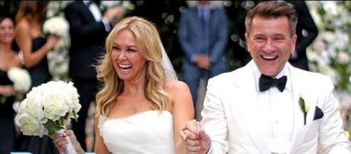 Kym Johnson and Robert Herjavec expecting twins [Image: PeopleTV/YouTube screenshot]