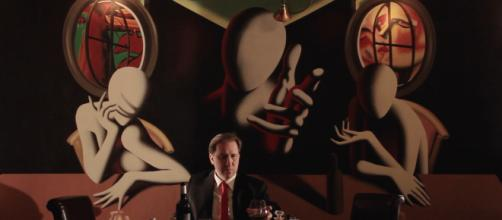 Mark Kostabi stars as himself in the film 'My Italy.' / Image via Clint Morris, October Coast PR, used with permission.