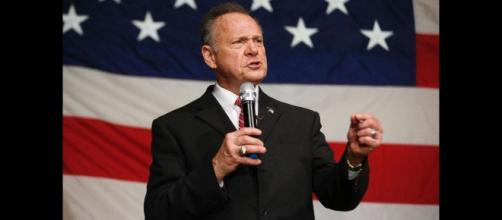 Roy Moore on the campaign trail. - [YouTube screencap / Golden state times]