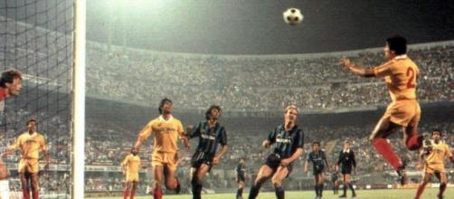 Una fase di Inter-Francavilla, primo turno di Coppa Italia della stagione 1984/85