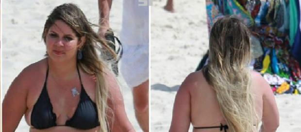 Marília Mendonça é flagrada de biquíni e anima fãs