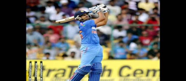 Rohit in action on way to 208*( image credit screenshot Youtube.com- sports channel)