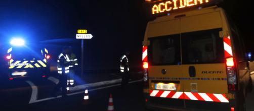 Accident à Millas / Raymond Roig // AFP