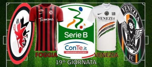 Foggia e Venezia si sfideranno questa sera nell'anticipo della 19^ giornata del campionato di Serie B ConTe.it