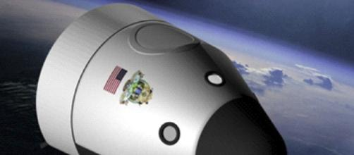 New Shepard in flight [image courtesy NASA wikimedia commons]